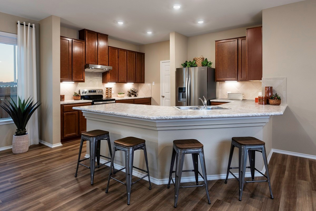New Homes in Uhland, TX - Highlands at Grist Mill Plan 1647 Kitchen