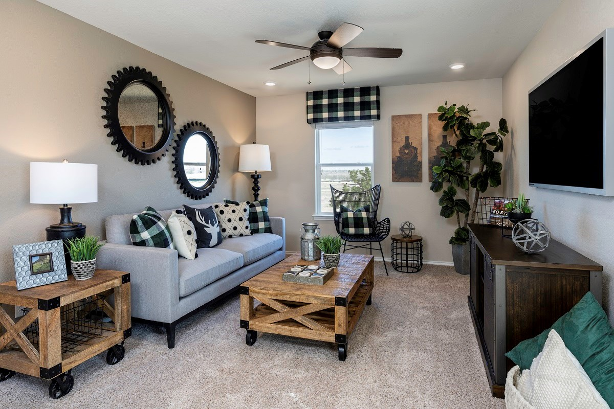 New Homes in Uhland, TX - Highlands at Grist Mill Plan 2239 Game Room