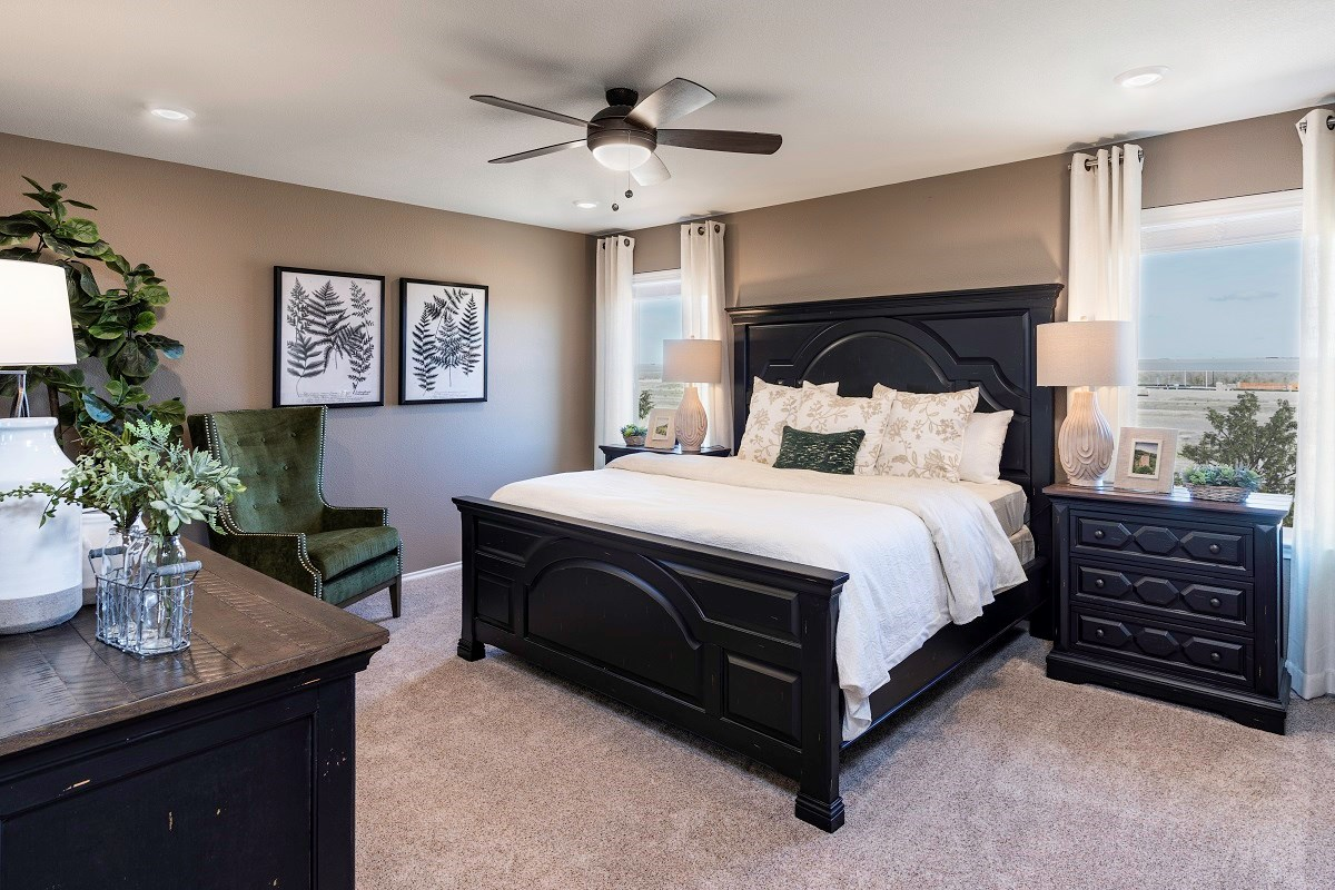 New Homes in Uhland, TX - Highlands at Grist Mill Plan 2239 Master Bedroom