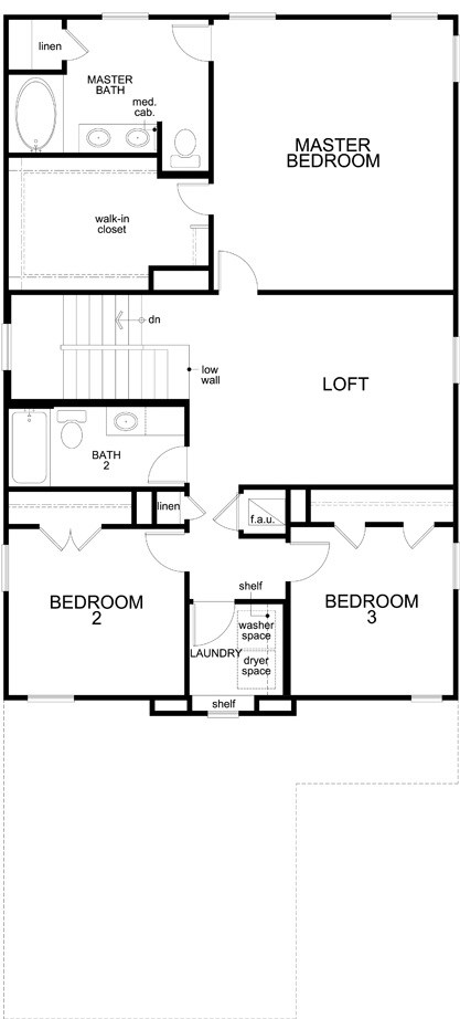New Homes in Uhland, TX - Plan 2411, Second Floor