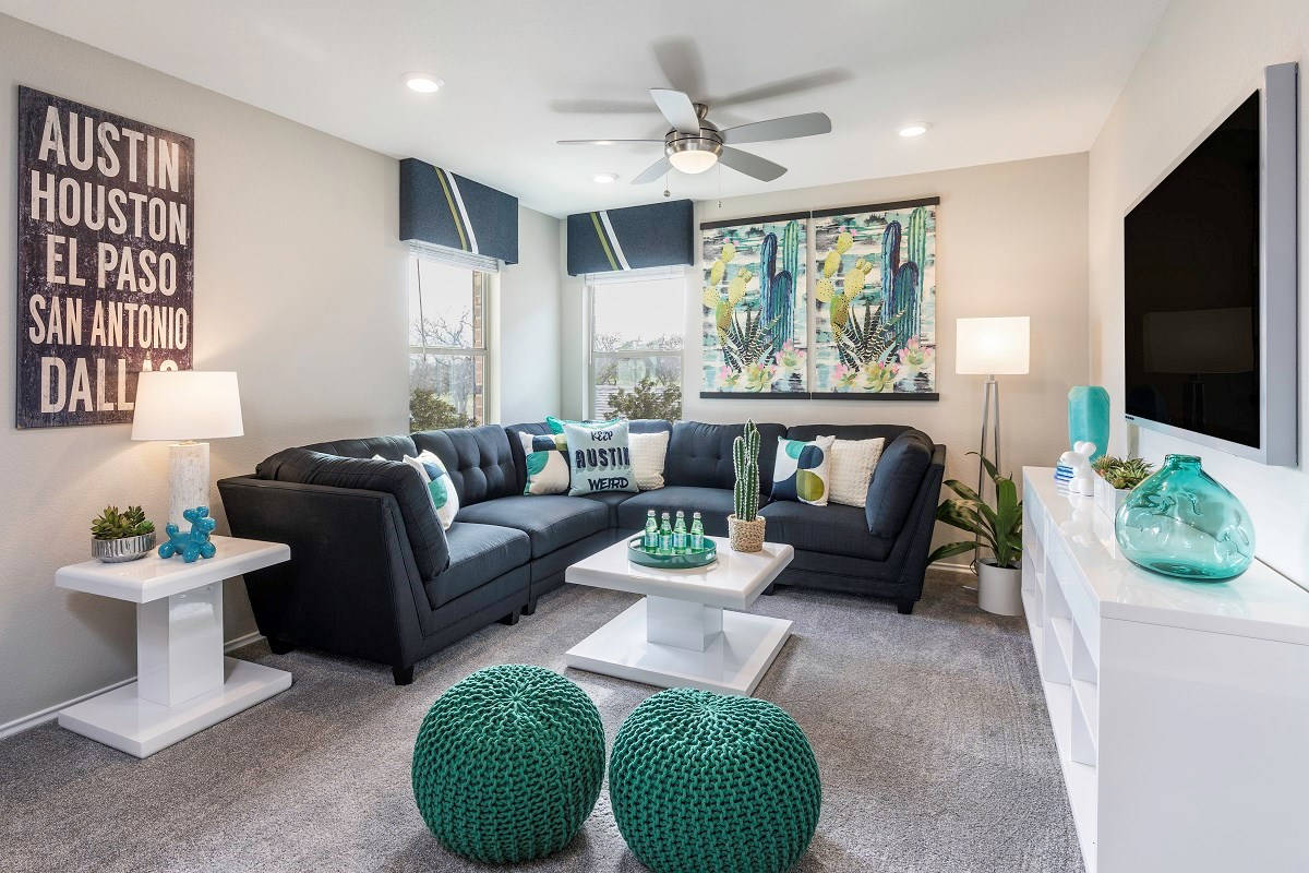 New Homes in Georgetown, TX - La Conterra - Heritage Collection Plan 1909 Game Room