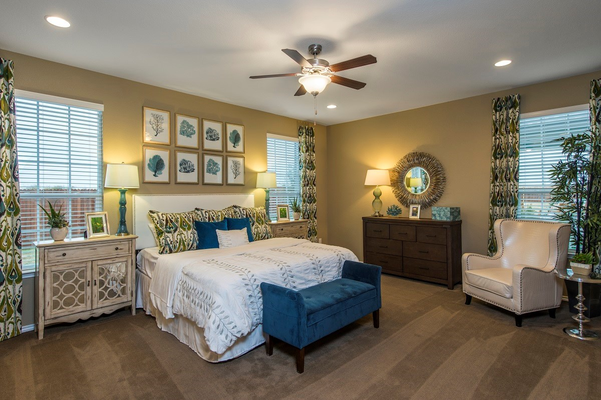 New Homes in Georgetown, TX - La Conterra - Classic Collection The A-2089 Master Bedroom