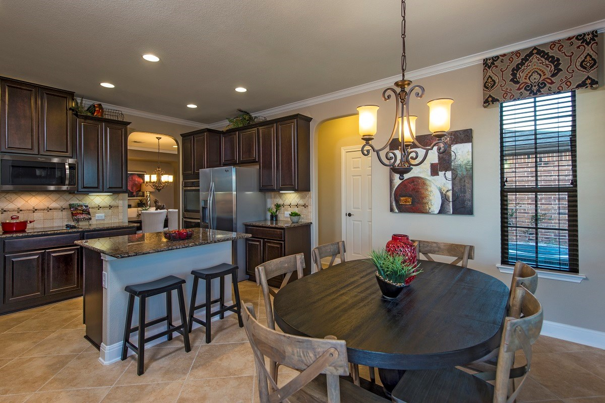 New Homes in Georgetown, TX - La Conterra - Classic Collection The A-3125 Kitchen and Breakfast Nook