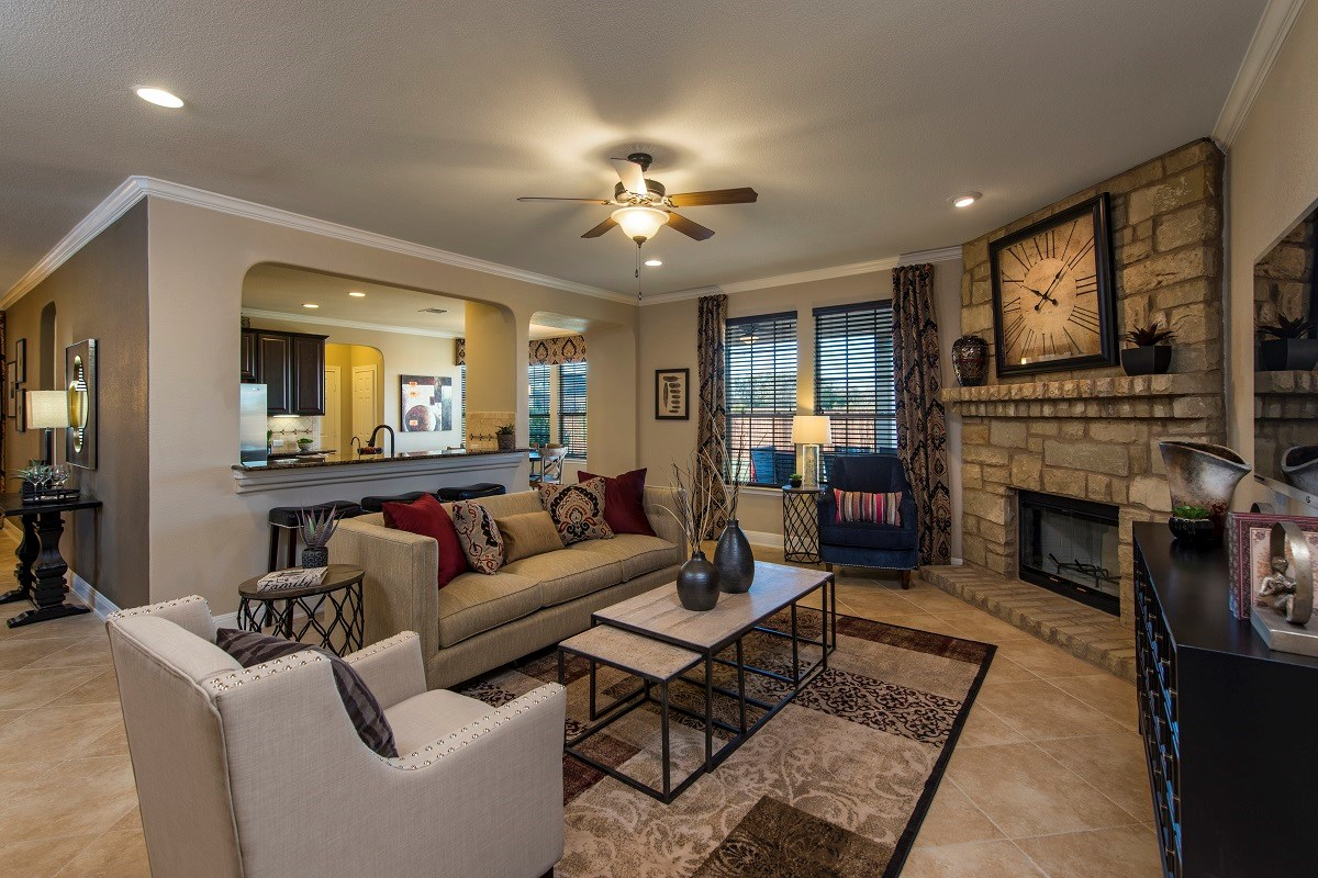 New Homes in Georgetown, TX - La Conterra The A-3125 Living Area