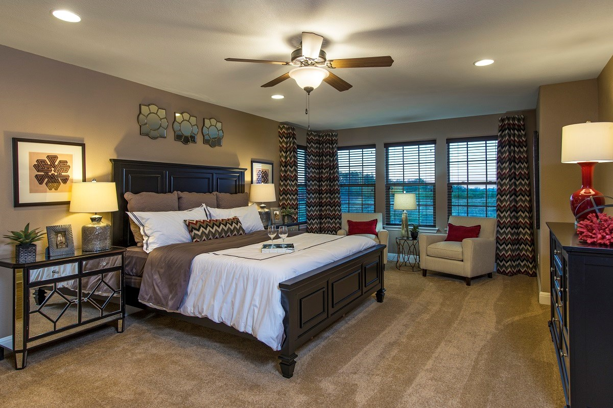 New Homes in Georgetown, TX - La Conterra The A-3125 Master Bedroom