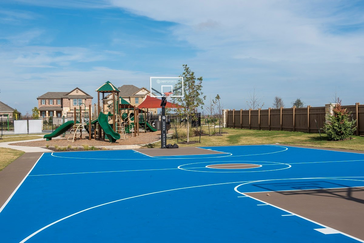 New Homes in Georgetown, TX - La Conterra Community Basketball Court