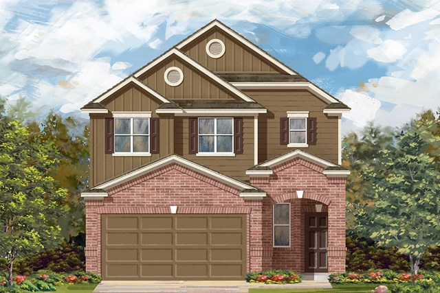 New Homes in Georgetown, TX - Plan F-1601 L