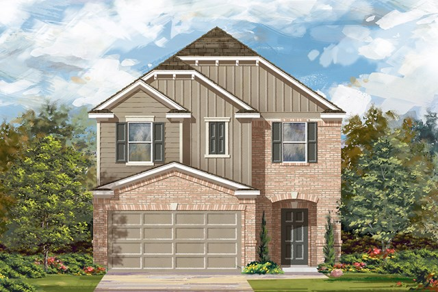 New Homes in Georgetown, TX - Plan F-1771 L