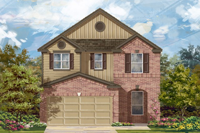 New Homes in Georgetown, TX - Plan F-2411 L