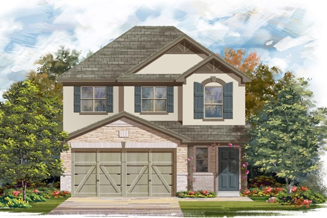 New Homes in Georgetown, TX - Plan F-1601 K