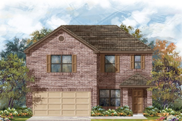 New Homes in Georgetown, TX - Plan E-2177 H