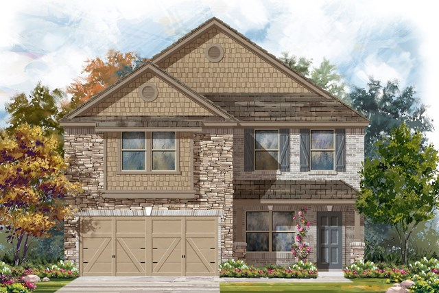New Homes in Georgetown, TX - Plan E-2177 J
