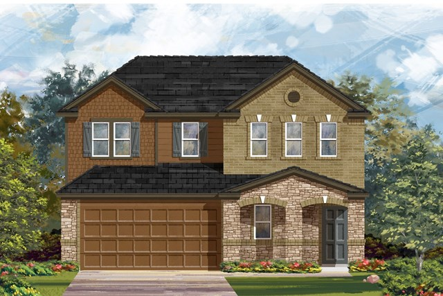New Homes in Georgetown, TX - Plan E-2516 J