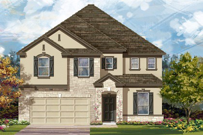 New Homes in Georgetown, TX - Plan A-3475 D