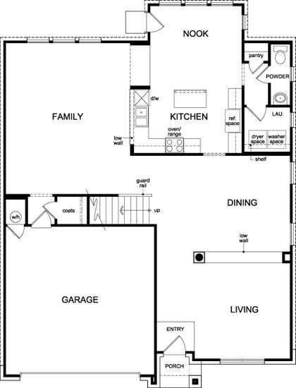 New Homes in Georgetown, TX - Plan A-3125, First Floor