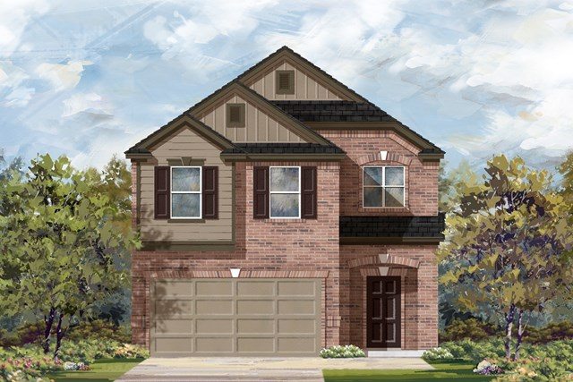 New Homes in Georgetown, TX - Plan F-1909 L
