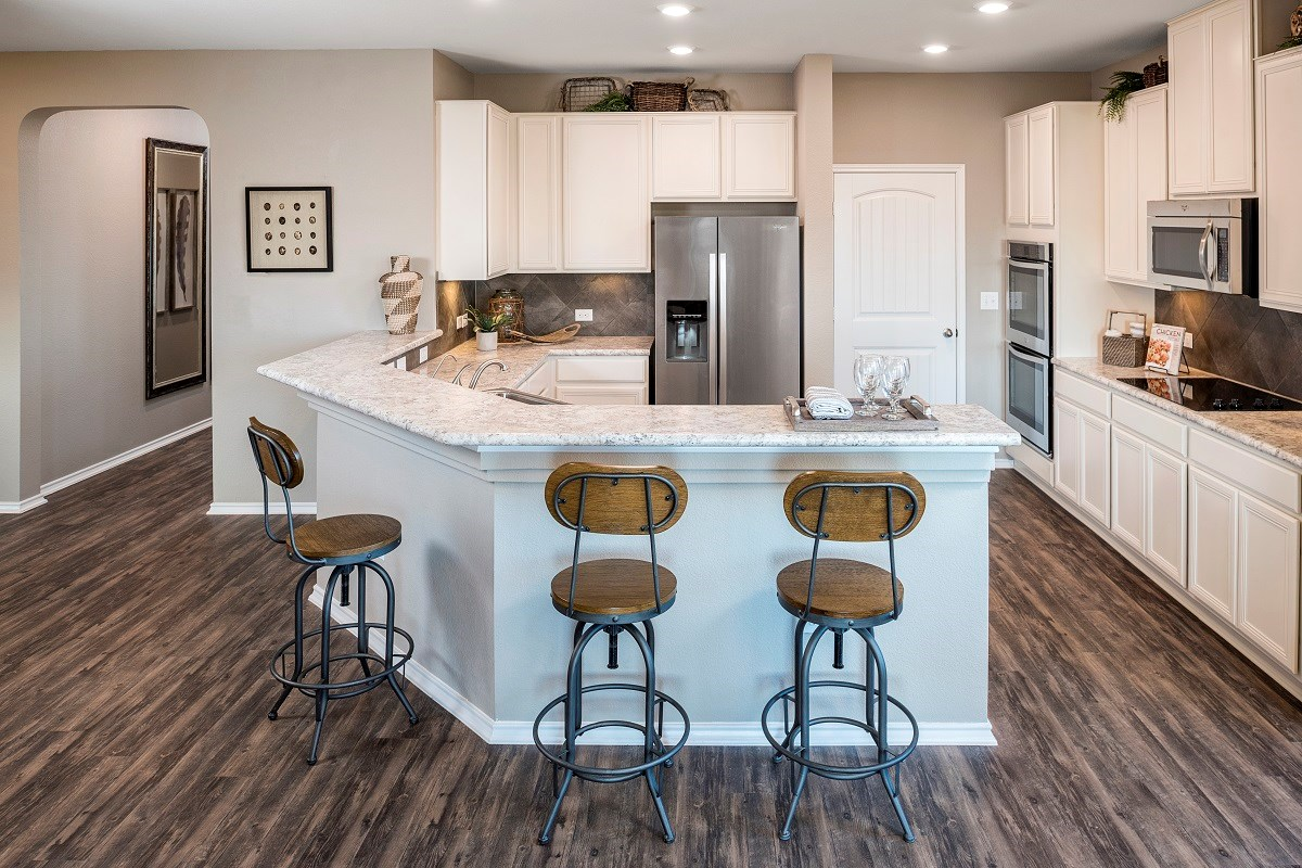 New Homes in Austin, TX - Landings at Wells Branch Plan E-1647 Kitchen