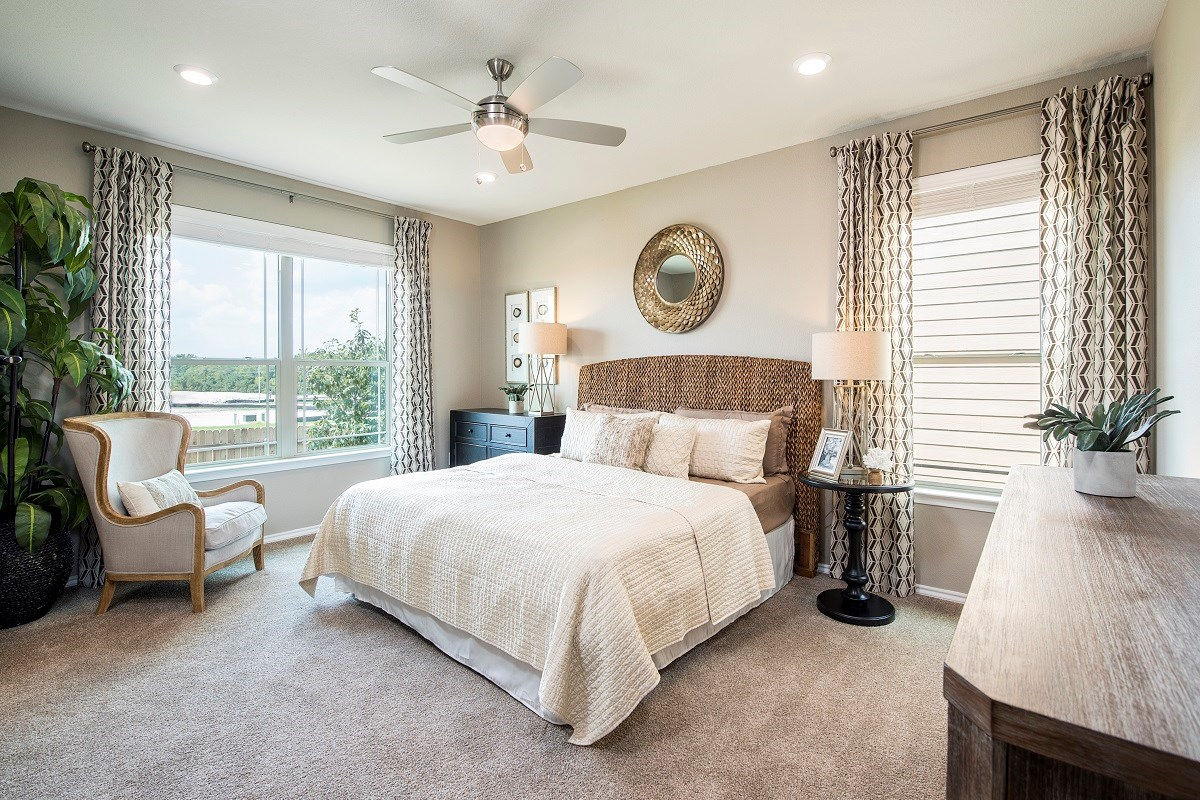 New Homes in Austin, TX - Landings at Wells Branch Plan E-1647 Master Bedroom