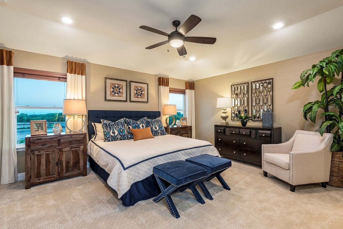 New Homes in Austin, TX - Landings at Wells Branch Plan F-2239 Master Bedroom