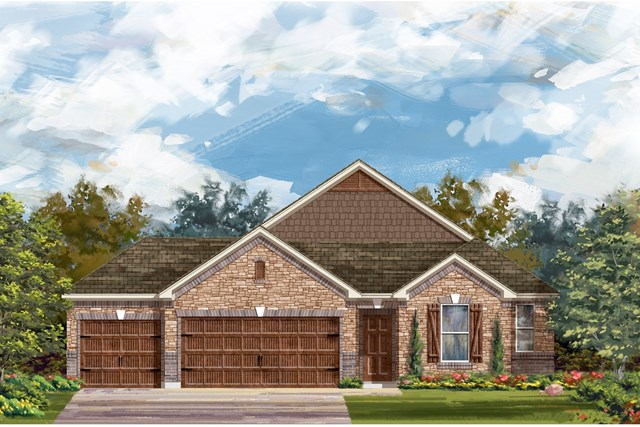 New Homes in Leander, TX - Plan A-2382 C