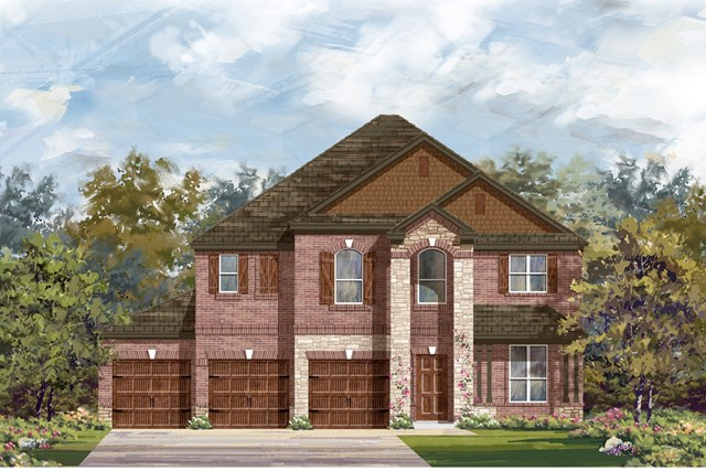 New Homes in Leander, TX - Plan A-2755 C