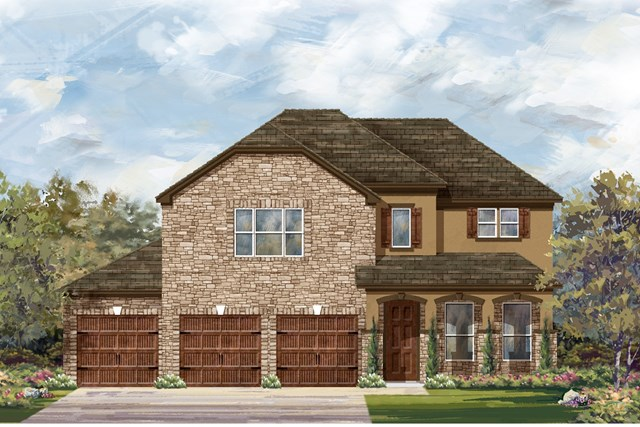 New Homes in Leander, TX - Plan A-3023 D
