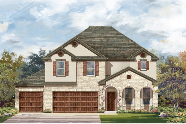 New Homes in Leander, TX - Plan A-3125 D