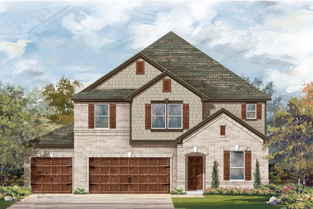 New Homes in Leander, TX - Plan A-3475 B