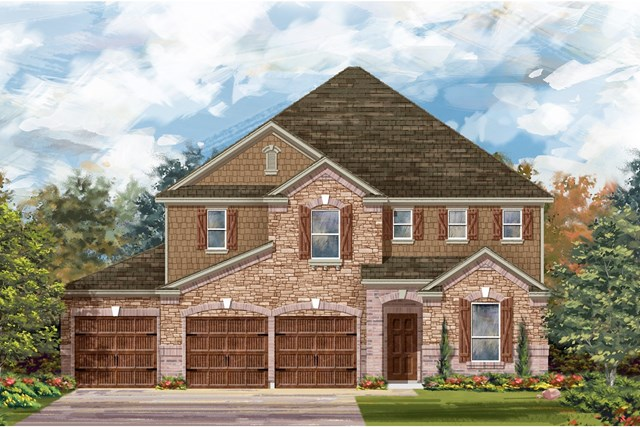 New Homes in Leander, TX - Plan A-3475 C