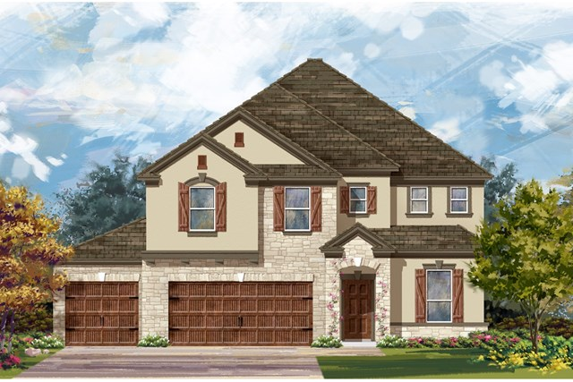 New Homes in Leander, TX - Plan A-3475 D