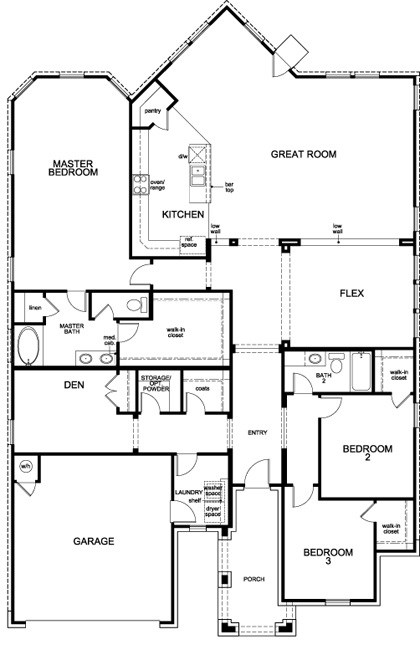 New Homes in Leander, TX - Plan L-2663, First Floor