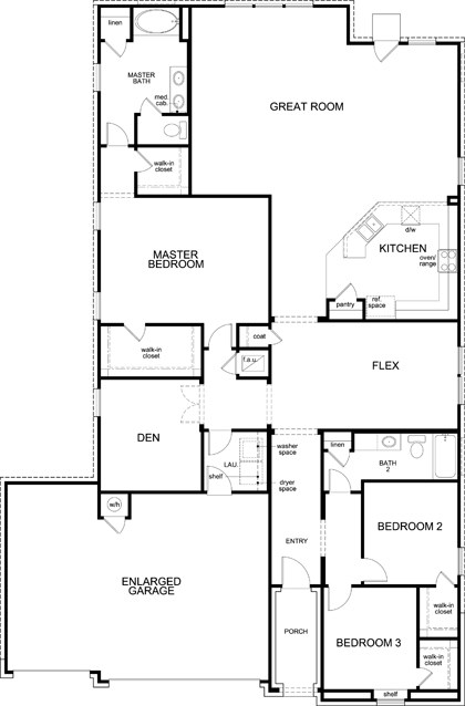 New Homes in Leander, TX - Plan A-2382 Modeled, First Floor