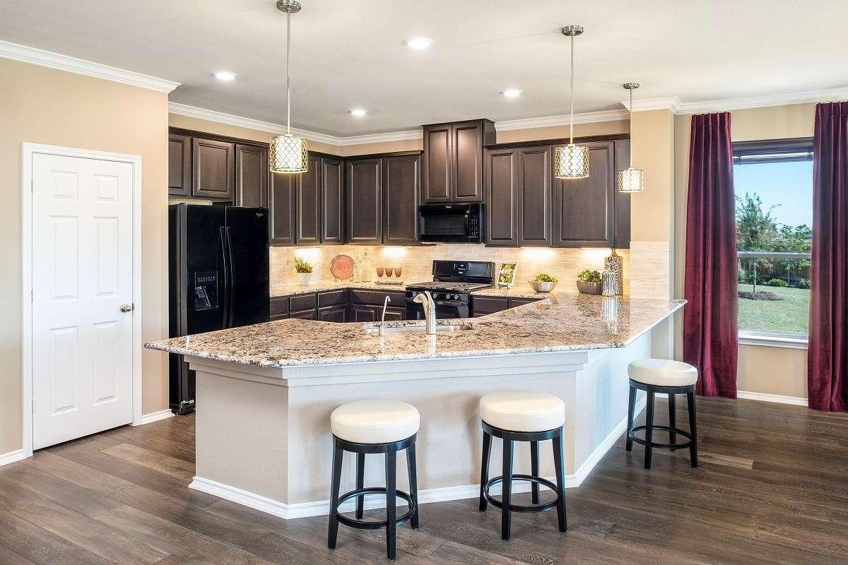 New Homes in Leander, TX - Mason Hills - The Lakes Hallmark Collection Plan A-2382 Kitchen