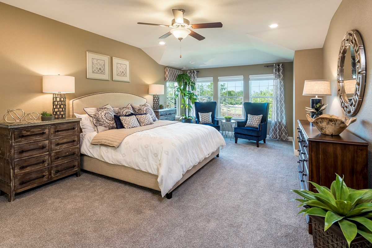 New Homes in Leander, TX - Mason Hills - The Lakes Hallmark Collection Plan A-3125 Master Bedroom