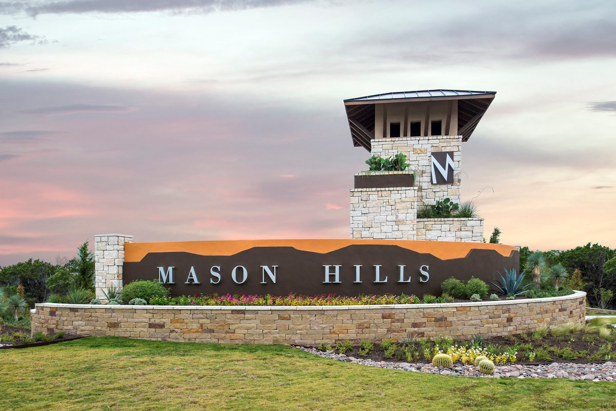 New Homes in Leander, TX - Mason Hills - The Lakes Classic Collection Mason Hills Community Entry