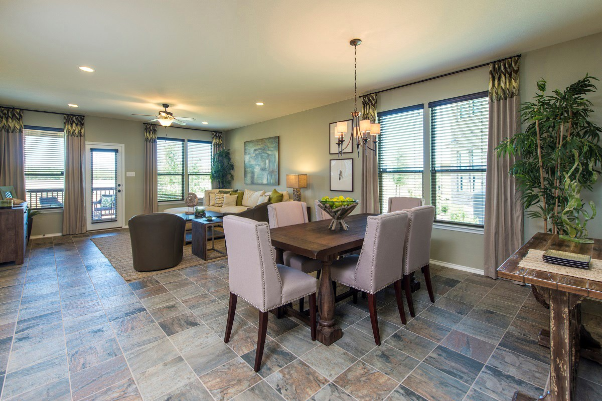 New Homes in Leander, TX - Mason Hills - The Lakes Classic Collection Plan A-1965 Dining Area