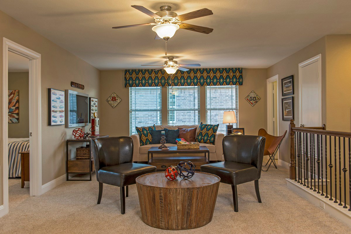 New Homes in Leander, TX - Mason Hills - The Lakes Classic Collection Plan A-3023 Game Room
