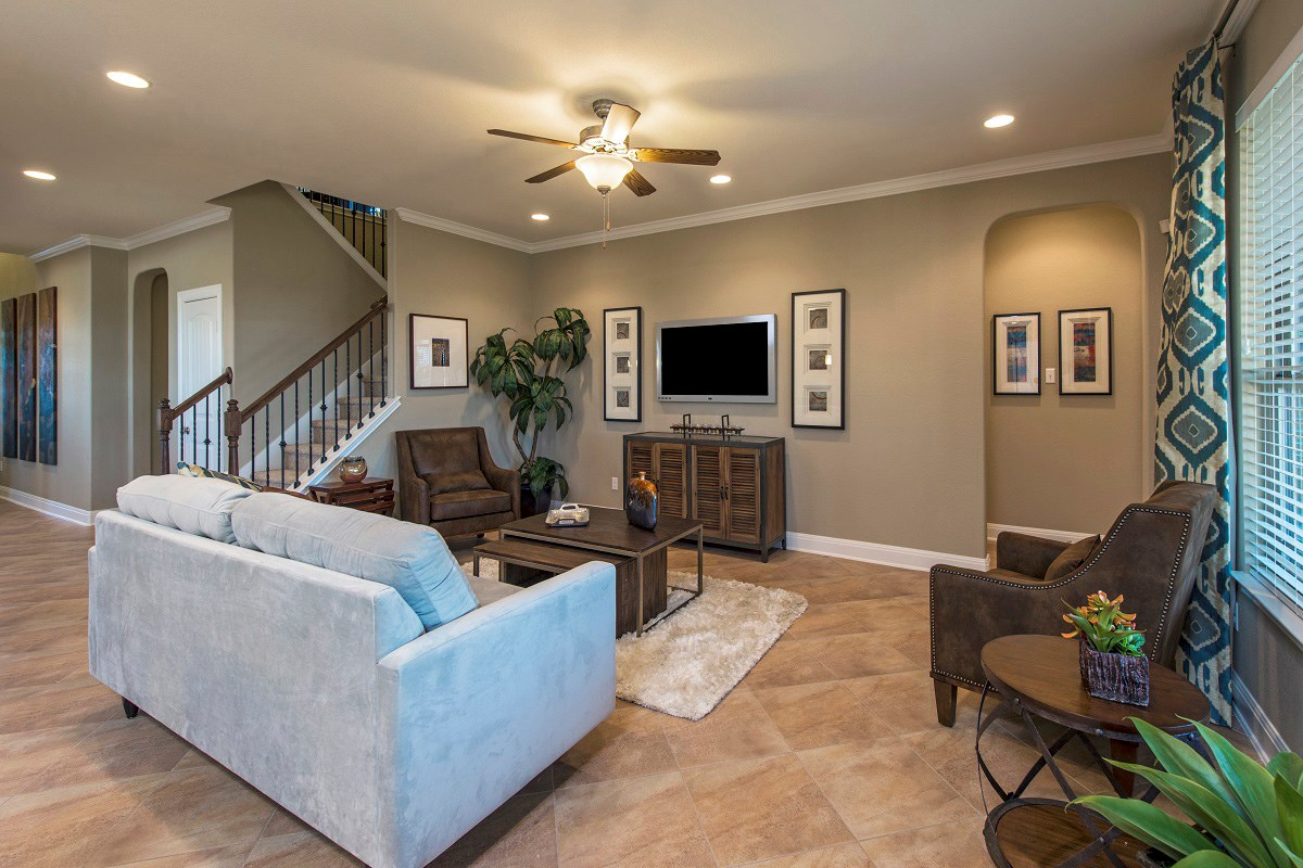 New Homes in Leander, TX - Mason Hills - The Lakes Classic Collection Plan A-3023 Living Area