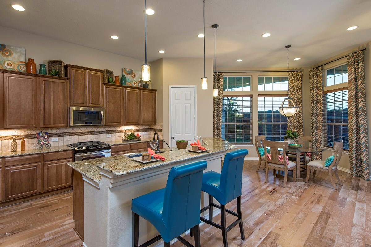 New Homes in Leander, TX - Mason Hills - The Bluffs The L-2663 Kitchen and Breakfast Nook