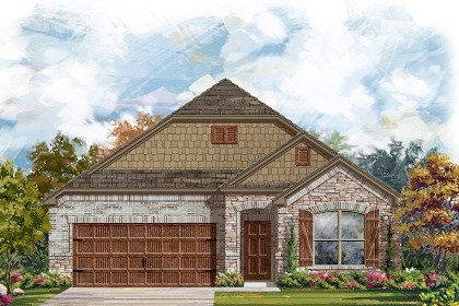 New Homes in Leander, TX - Plan A-1852 C