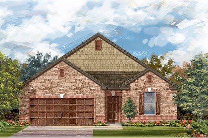 New Homes in Leander, TX - Plan A-1965 C