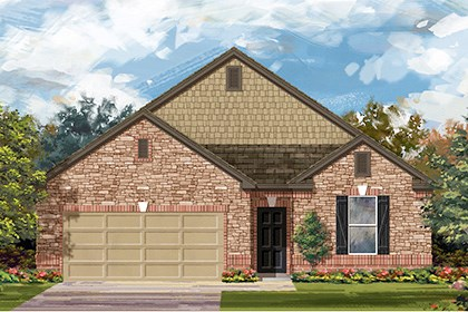 New Homes in Georgetown, TX - Plan A-1965 C