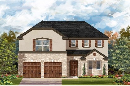 New Homes in Leander, TX - Plan A-2502 D