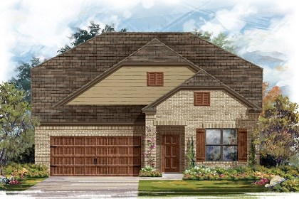New Homes in Leander, TX - Plan A-2655 Elevation B