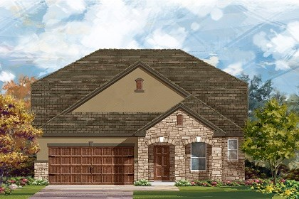 New Homes in Leander, TX - Plan A-2655 Elevation D