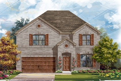 New Homes in Leander, TX - Plan A-2755 Elevation A