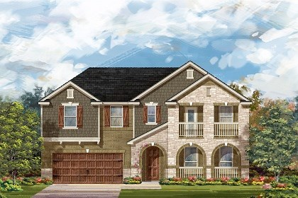 New Homes in Leander, TX - The L-3959 C