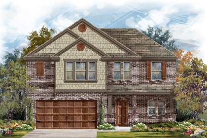 New Homes in Leander, TX - Plan A-2183 B
