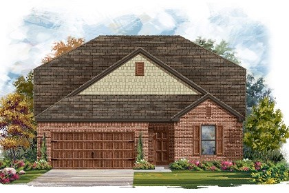 New Homes in Leander, TX - Plan A-2655 Elevation A