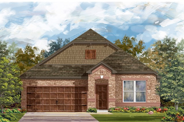 New Homes in Leander, TX - Plan A-1491 C